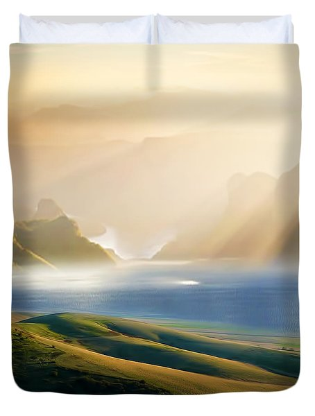 Day 3 Duvet Cover by Lourry Legarde
