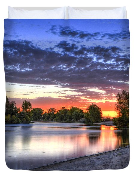 Duvet Cover featuring the photograph Day At The Lake by Marta Cavazos-Hernandez