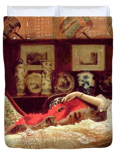 Day Dreams Duvet Cover by John Atkinson Grimshaw
