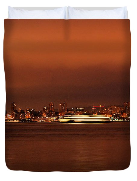 Daybreak Ferry Duvet Cover