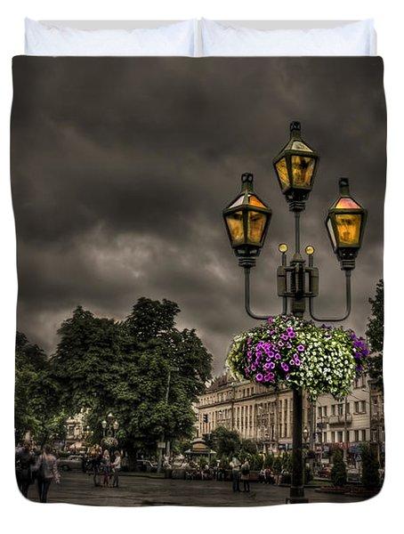 Days Of Thunder Duvet Cover by Evelina Kremsdorf