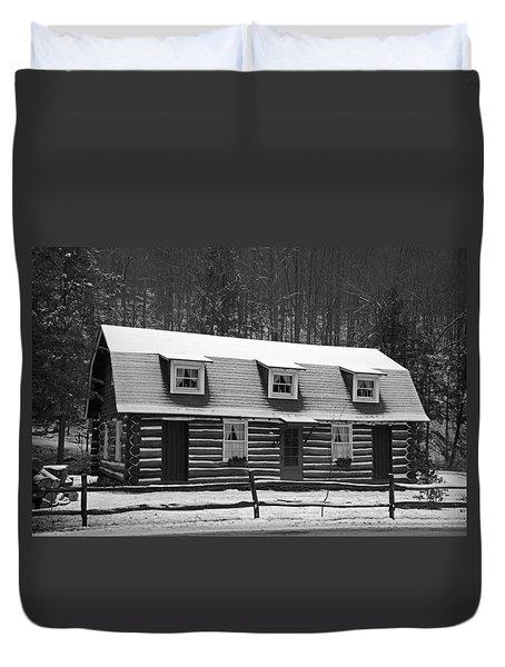Days Of Yore Log Cabin Duvet Cover by John Stephens