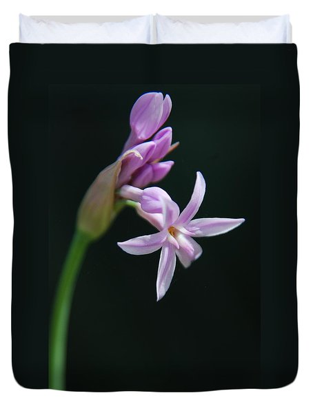 Duvet Cover featuring the photograph Flowering Bud by Tam Ryan