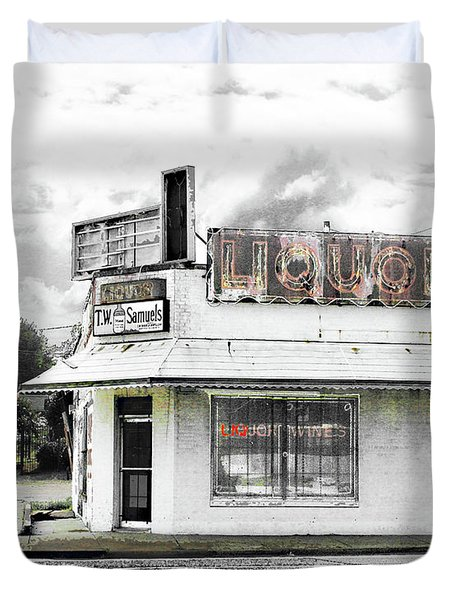 Duvet Cover featuring the photograph Dead End by Lizi Beard-Ward