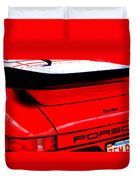 Duvet Cover featuring the photograph Dead Red Turbo by John Schneider