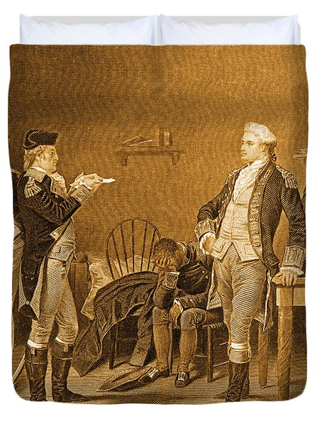 Death Warrant Of Major John Andre, 1780 Duvet Cover by Photo Researchers