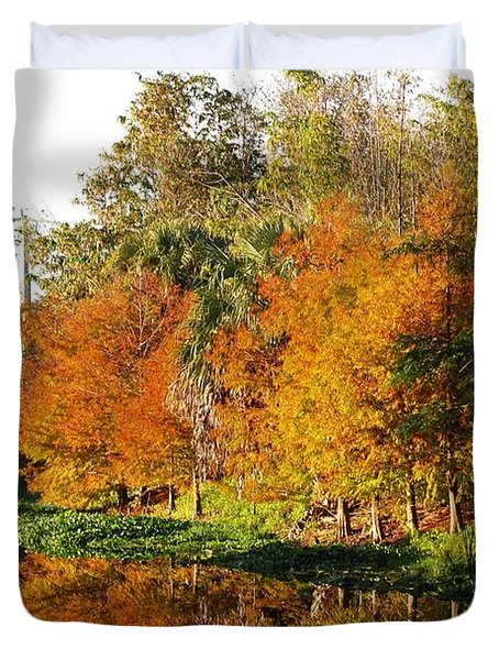 December Morn On Deerfield Creek Duvet Cover