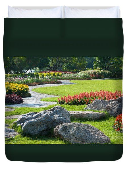 Decoration In Park Duvet Cover by Atiketta Sangasaeng