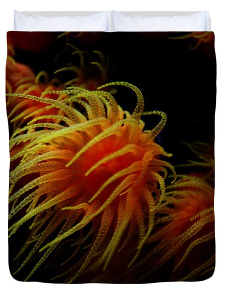 Deep Ocean Coral Polyp Duvet Cover