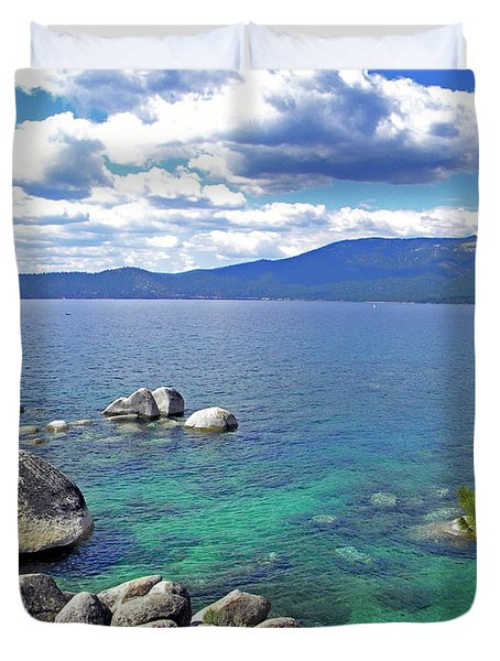 Deep Waters Lake Tahoe Duvet Cover