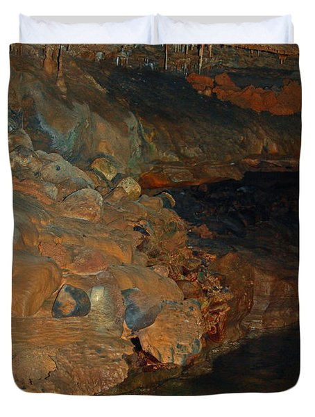 Deep Within The Earth Duvet Cover by DigiArt Diaries by Vicky B Fuller