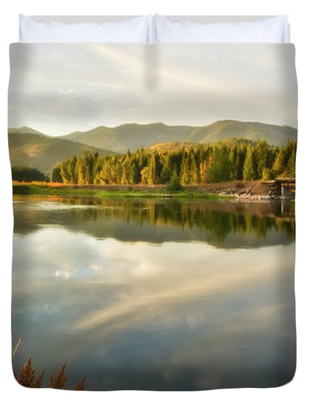 Duvet Cover featuring the photograph Deer Island Bridge by Albert Seger