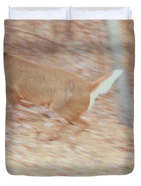 Deer On The Run Duvet Cover by Karol Livote