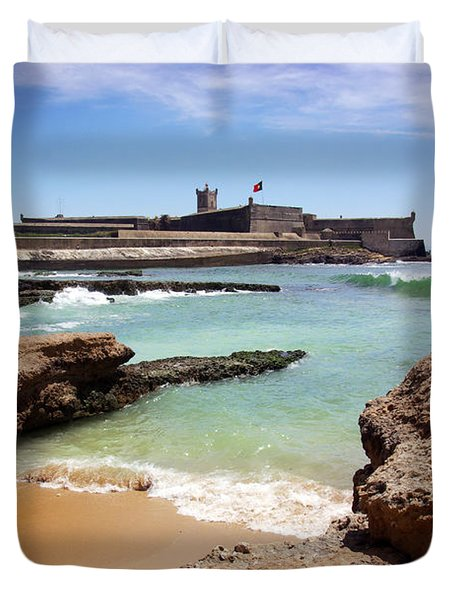 Defense Fort Duvet Cover by Carlos Caetano