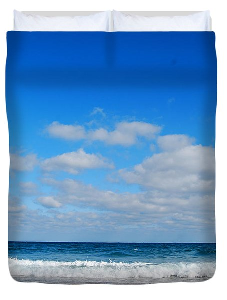 Delray Sea And Sky Duvet Cover