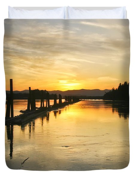 Duvet Cover featuring the photograph Delta Sunset by Albert Seger