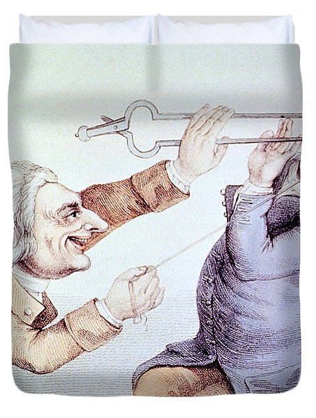 Dentistry Tooth Extraction 1810 Duvet Cover by Science Source