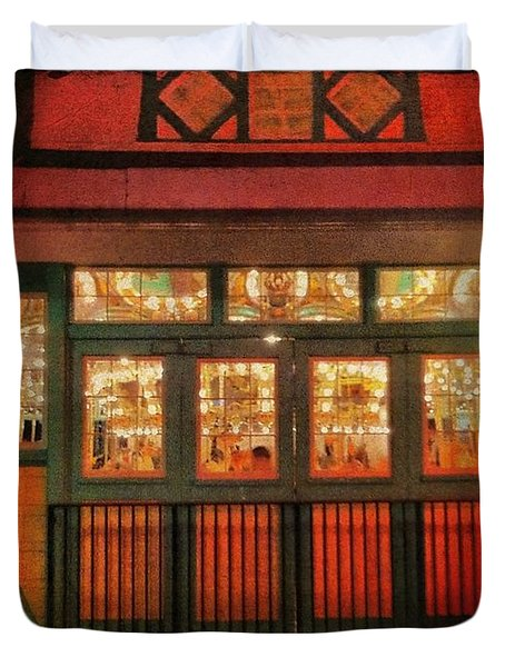 Dentzel Carousel As It Is Closing For The Night Duvet Cover