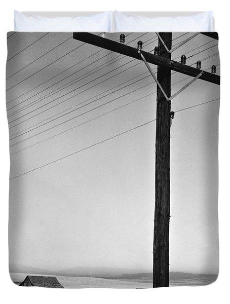 Depression Era Rural America Duvet Cover by Photo Researchers