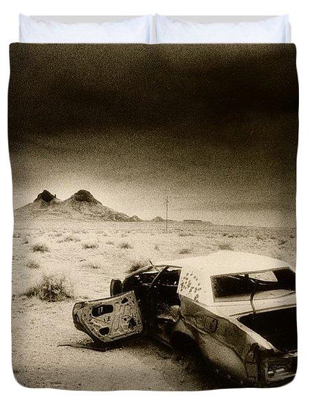 Desert Arizona Usa Duvet Cover by Simon Marsden