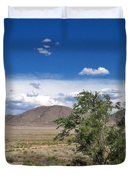 Desert In New Mexico Duvet Cover by Rick Frost