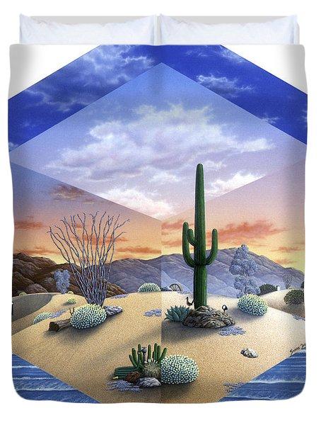 Desert On My Mind 2 Duvet Cover by Snake Jagger
