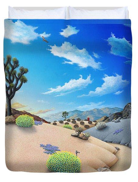 Desert Timeline Duvet Cover by Snake Jagger