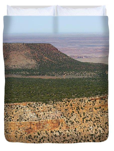 Desert Watch Tower View Duvet Cover by Julie Niemela