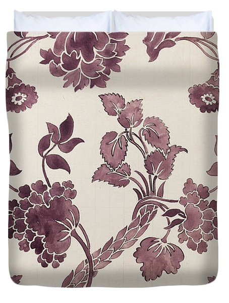 Design For A Silk Damask Duvet Cover by Anna Maria Garthwaite