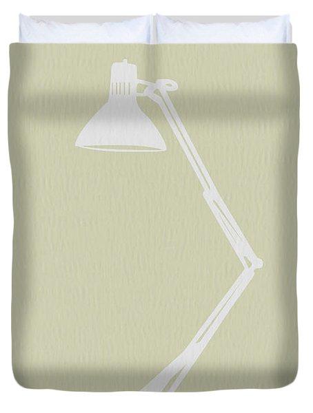 Desk Lamp Duvet Cover by Naxart Studio