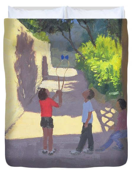 Diabolo France Duvet Cover by Andrew Macara