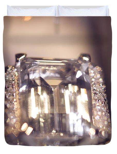 Diamond Ring. Spirit Of Treasure Duvet Cover by Jenny Rainbow