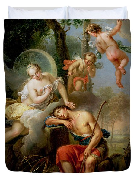 Diana And Endymion Duvet Cover by Frans Christoph Janneck
