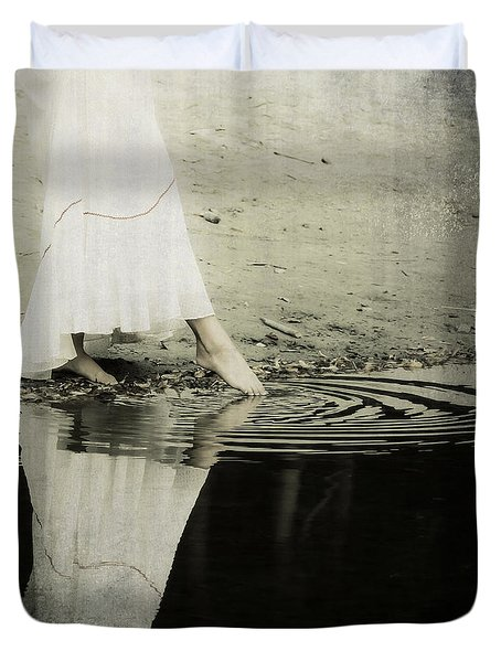 Dipping The Foot Duvet Cover by Joana Kruse