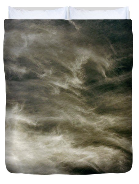 Duvet Cover featuring the photograph Dirty Clouds by Clayton Bruster