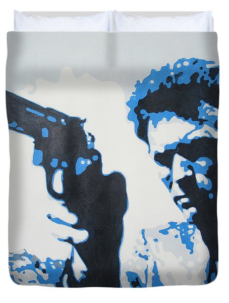 Dirty Harry Duvet Cover by Luis Ludzska