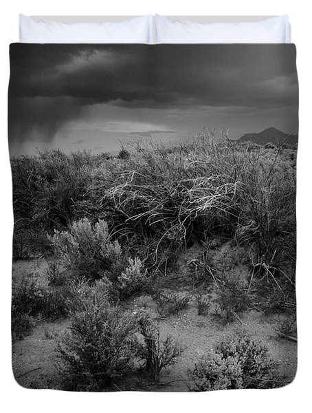 Duvet Cover featuring the photograph Distant Shower by Ron Cline