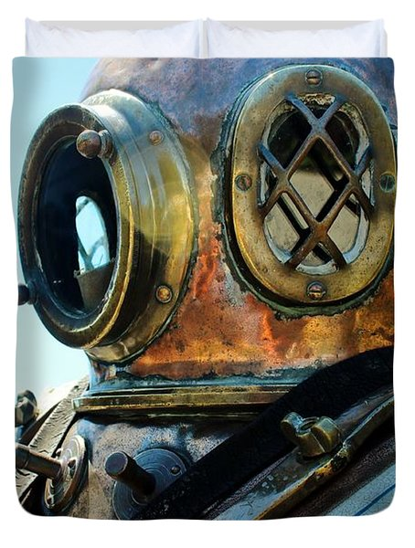 Dive Helmet Duvet Cover by Rene Triay Photography
