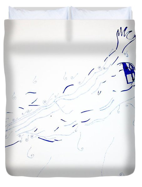 Diving Duvet Cover by Gloria Ssali