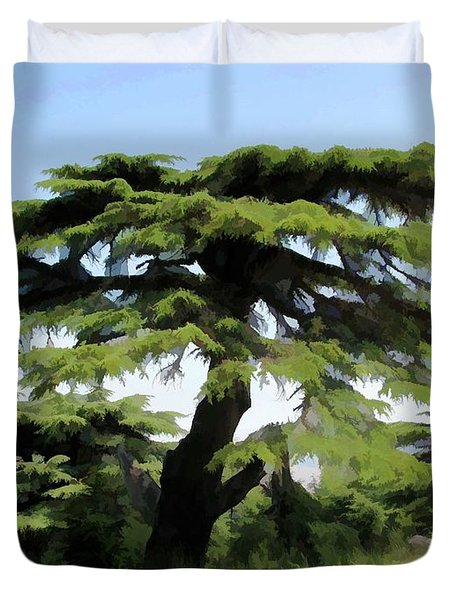 Do-00511 Cedar Forest Duvet Cover