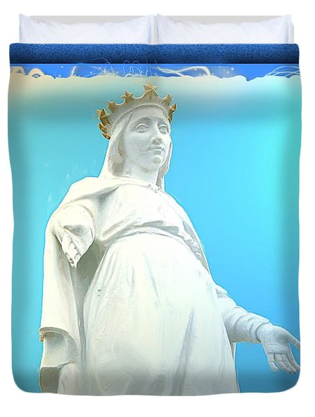 Do-00531 Our Lady Of Lebanon Duvet Cover