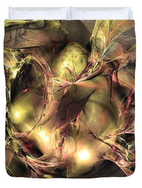 Do Not Touch -abstract Art Duvet Cover