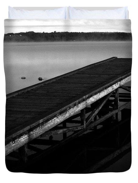Dock Duvet Cover by Jerry Cordeiro