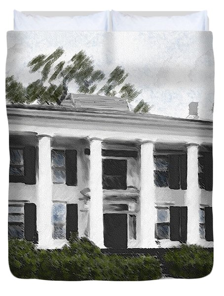 Dodd House Georgia Plantation Duvet Cover by Lianne Schneider