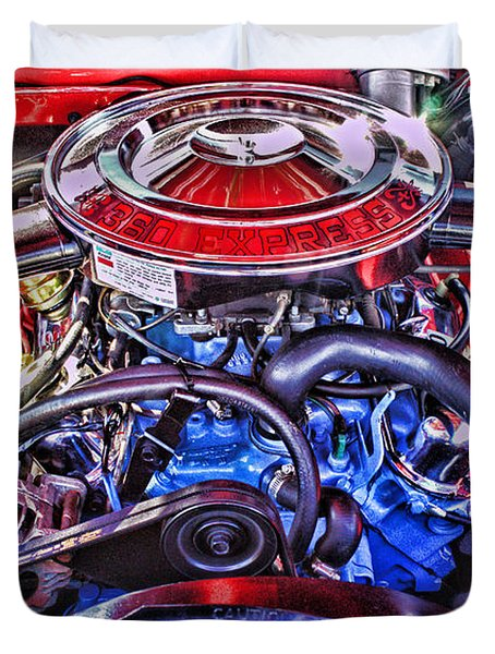Dodge Motor Hdr Duvet Cover by Randy Harris