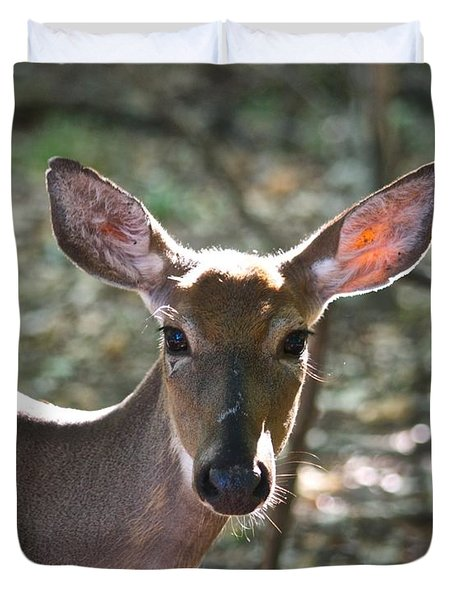 Doe Profile 9734 Duvet Cover by Michael Peychich