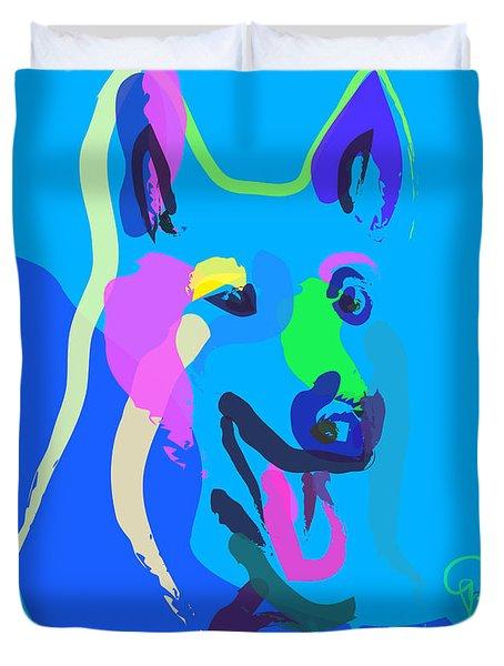 Dog - Colour Dog Duvet Cover