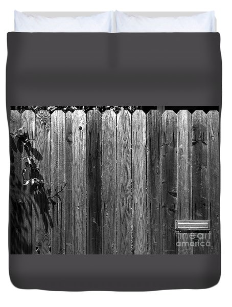 Dog Inside. Leave Mail In Yard. Duvet Cover by CML Brown