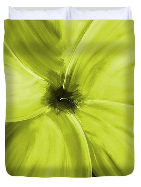 Dogwood Bloom Yellow Duvet Cover by Mark Moore