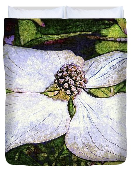 Dogwood Days Duvet Cover by Judi Bagwell